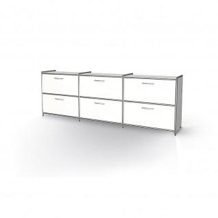 Kerkmann 7919 Sideboard Regal Artline breit mit 2 Schubfächern 236x38x78 cm 2 OH