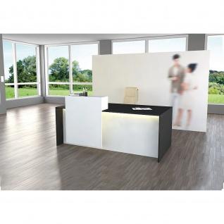 Kerkmann Design-Theke Palermo 3417 180x92x110cm weiß-anthrazit
