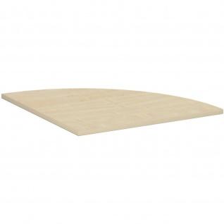 Gera Verkettungsplatte Viertelkreis 90° für Schreibtisch Bürotisch 4 Fuß Flex 800x800mm ahorn buche lichtgrau weiß