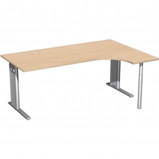 Gera PC-Schreibtisch Bürotisch C Fuß Pro rechts 1800x800/1200x720mm