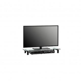 TV Board Glas Metall weiß oder schwarz 1605