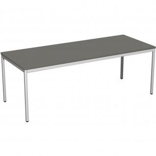 Gera Schreibtisch Bürotisch 4 Fuß Eco 2000x800x720mm versch. Dekore