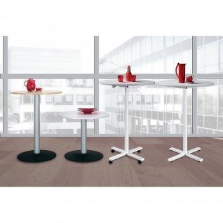 Gera Stehtisch Konferenztisch Hubsäulentisch mit Rollen H:730-1170mm D:900mm