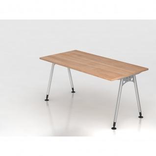 Büro Schreibtisch 160x80 cm Modell AS16 stufenlos höheneinstellbar
