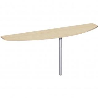 Gera Anbautisch mit Stützfuß seitliche Anbringung höhenverstellbar für Schreibtisch Bürotisch 4 Fuß Flex 1800x500mm