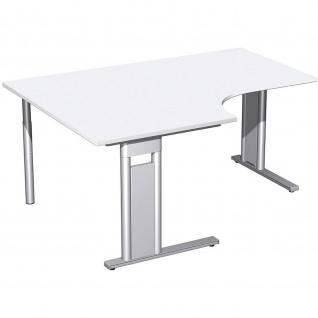 Gera PC-Schreibtisch Bürotisch C Fuß Pro links 800/1600x800/1200x720mm