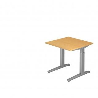 Büro Schreibtisch Stehtisch höhenverstellbar 80x80 cm Modell XB08