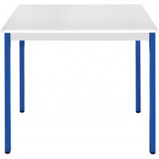 Konferenztisch Universaltisch 76RGBL, 700 x 600 mm Gestell blau