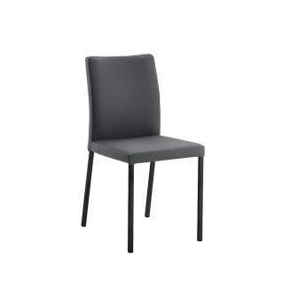 Edler Design Stuhl Esszimmerstuhl Borsa 1 Gestell schwarz