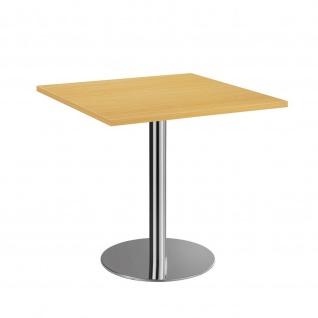 Bistro Tisch Beistelltisch Besprechungstisch 88 chrom 80 x 80 cm