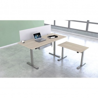 Kerkmann Schreibtisch Sitz-Stehtisch MOVE 1 silber 100x60x74-123cm elektr. höhenverstellbar