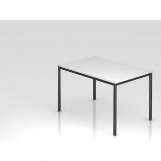 Konferenztisch Meeting D Modell DR12 Gestell schwarz