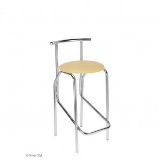 Design Barhocker Jola Hocker Plus CR Sitzhöhe 75 cm, verchromt Kunstleder