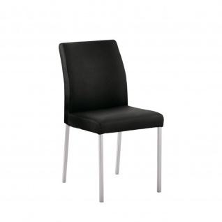 Edler Design Stuhl Esszimmerstuhl Barile 1 Leder Gestell Edelstahl