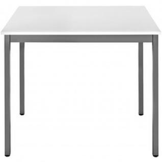 Konferenztisch Universaltisch 76RGG, 700 x 600 mm Gestell grau
