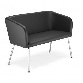 Lounger Sofa Hello 4L Duo chrom 2-Sitzer Kunstleder 4 Fuss