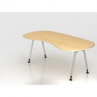 Büro Schreibtisch 200x100 cm Nierenform Modell AS20 stufenlos höheneinstellbar