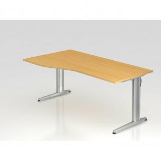 Büro Schreibtisch 180x100 cm Freiform Modell XS18