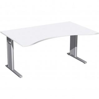 Gera Ergonomieform Schreibtisch Bürotisch C Fuß Pro 1600x800/1000x720mm verschied.Dekore