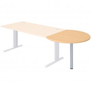 Büro Schreibtisch Steel runder Besprechungsansatz 100cm