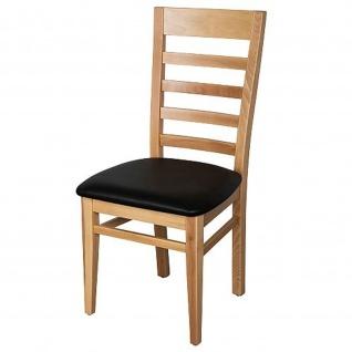 Schwarzwald Esszimmerstühle Stuhl Christina 2er Set mit Polstersitzfläche buche massiv
