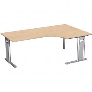 Gera PC-Schreibtisch Bürotisch C Fuß Pro rechts, 800/2000x800/1200x720mm