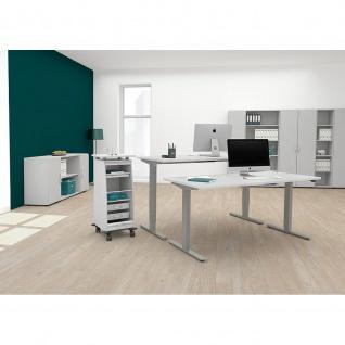 Elektro Flex Schreibtisch elektrisch höhenverstellbar 1800x800x650-1250cm diverse Dekore