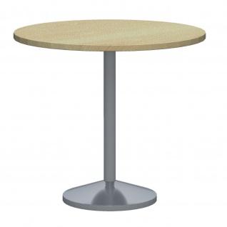 Konferenztisch Bürotisch Beistelltisch Stehtisch Tellerfuß H:740 mm D:800 mm Alu oder verchromt