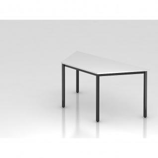 Kopie von Konferenztisch Meeting D Modell DQTR Gestell schwarz Tischfuß eckig