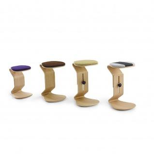 Ercolino - ready mit flachem Sitzpolster Oberfläche Eiche oder Buchefurniert geölt