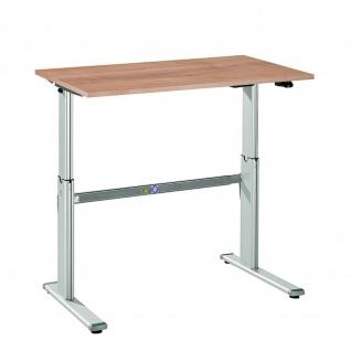 Büro Schreibtisch Stehtisch höhenverstellbar 120x80 cm Modell Xanda I