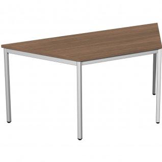 Gera Schreibtisch Bürotisch Trapezform 4 Fuß Eco 693x800/1600 mm versch. Dekore