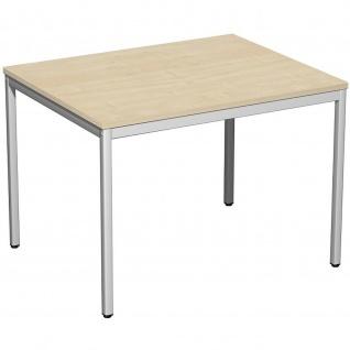 Gera Schreibtisch Bürotisch 4 Fuß Eco 1000x800x720mm versch. Dekore