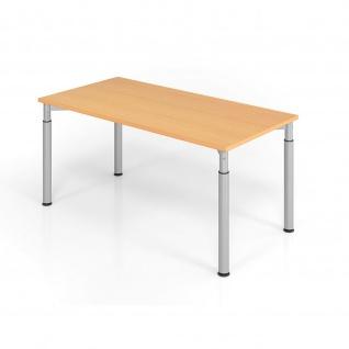 Büro Schreibtisch 160x80 cm Modell YS16 mechanische Höheneinstellung