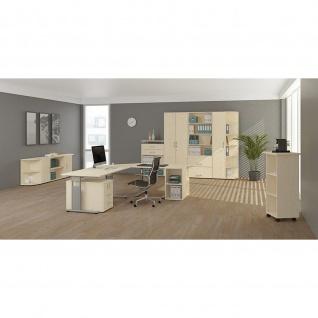 Gera Schreibtisch Bürotisch C Fuß Flex 1800x800x720mm ahorn buche lichtgrau weiß