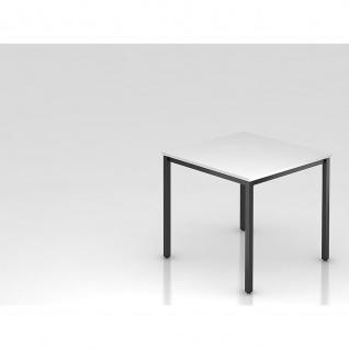 Konferenztisch Meeting D Modell DQ 08 Gestell schwarz Tischfuß eckig