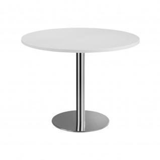 Hammerbacher Bistro Tisch Beistelltisch Besprechungstisch chrom 100 cm Durchmesser