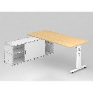 Büro Schreibtisch zur Auflage auf Sideboard 180x80 cm Modell OSE19