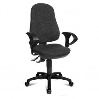 Bürodrehstuhl Point 70 Spezial-Bandscheibensitz mit Beckenstütze, grau