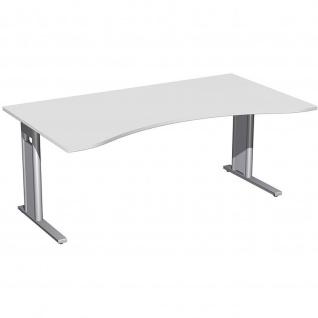 Gera Ergonomieform Schreibtisch Bürotisch C Fuß Pro 1800x800/1000x720mm verschied. Dekore