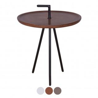 Serviertisch Beistelltisch Reno rund ø 50 cm Metall-Gestell altsilber oder schwarz
