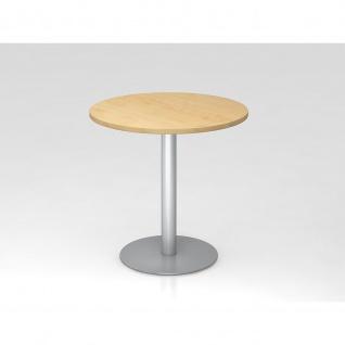 Hammerbacher Bistro Tisch Beistelltisch Besprechungstisch 08 silber 80 cm Durchmesser