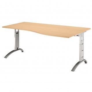 Büro Schreibtisch 180x100 cm Freiform FS18 höheneinstellbar