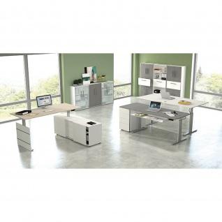 Kerkmann Schreibtisch Sitz-Stehtisch MOVE 3 silber 120x80x74-120cm elektr. höhenverstellbar
