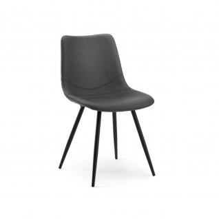 Design Stuhl Esszimmerstuhl Lino 1 Gestell schwarz Kunstleder