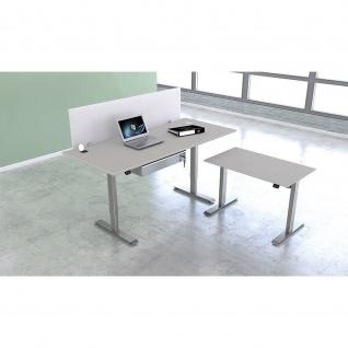Kerkmann Schreibtisch Sitz-Stehtisch MOVE 1 silber 180x80x74-123cm elektr. höhenverstellbar