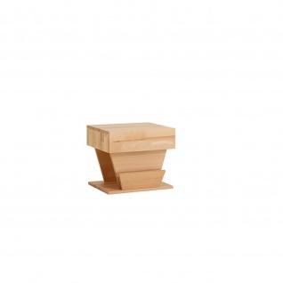 Design Massivholz Nachttisch Nachtkonsole Clover, Kernbuche/Wildeiche