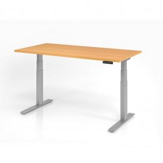 Büro Schreibtisch Stehtisch höhenverstellbar 160x80 cm Modell XDKB16 mit Memory-Schalter