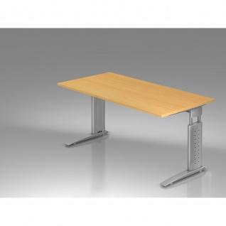 Hammerbacher Büro Schreibtisch 160x80 cm Modell US16 mechanische Höheneinstellung