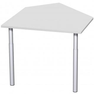 Gera Datenanbautisch links mit Stützfüßen für Schreibtisch Bürotisch 4 Fuß Eco 1060x1225mm